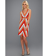 Calvin Klein - Sleeveless Zig Zag Printed Dress