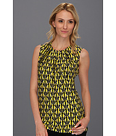 Anne Klein - Geo Stripe Print Back Tie Top
