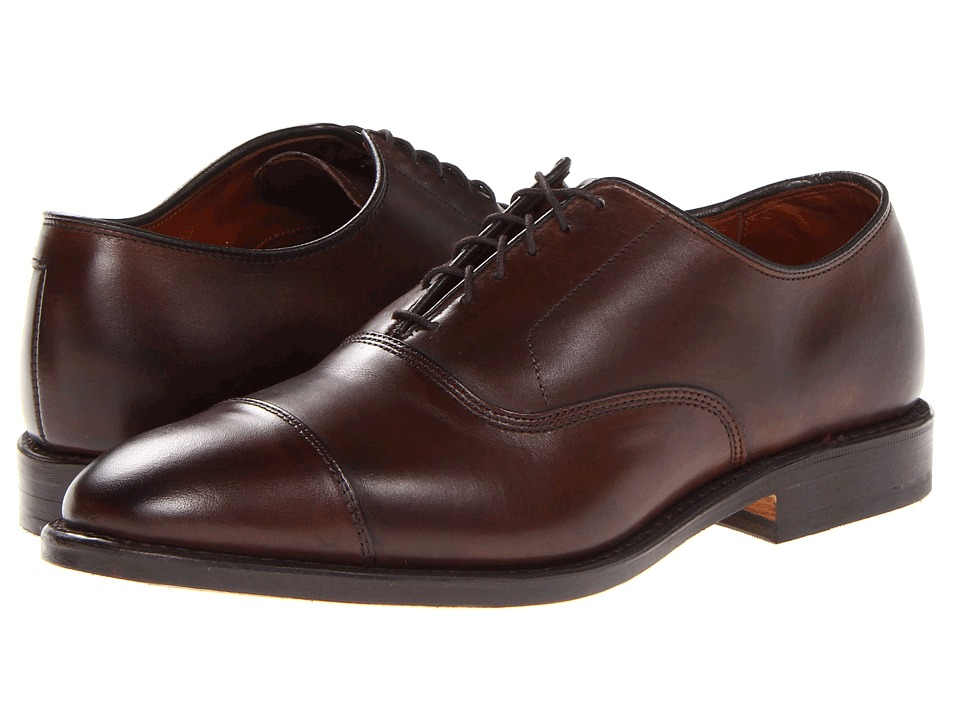 1960s Style Men's Clothing, 70s Men's Fashion Allen Edmonds - Park Avenue Dark Brown Burnished Calf Mens Lace Up Cap Toe Shoes $395.00 AT vintagedancer.com