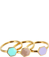 gorjana - Bloom Hexagon Ring Set