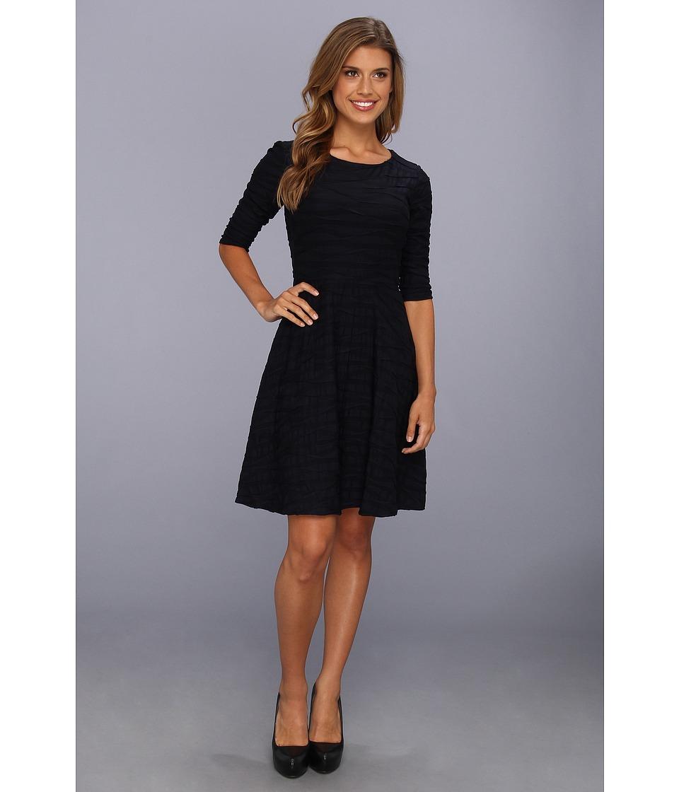 Donna Morgan - Three-Quarter Sleeve Dress w/Full Skirt