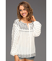 BCBGMAXAZRIA - Irina Embroidered Peasant Blouse