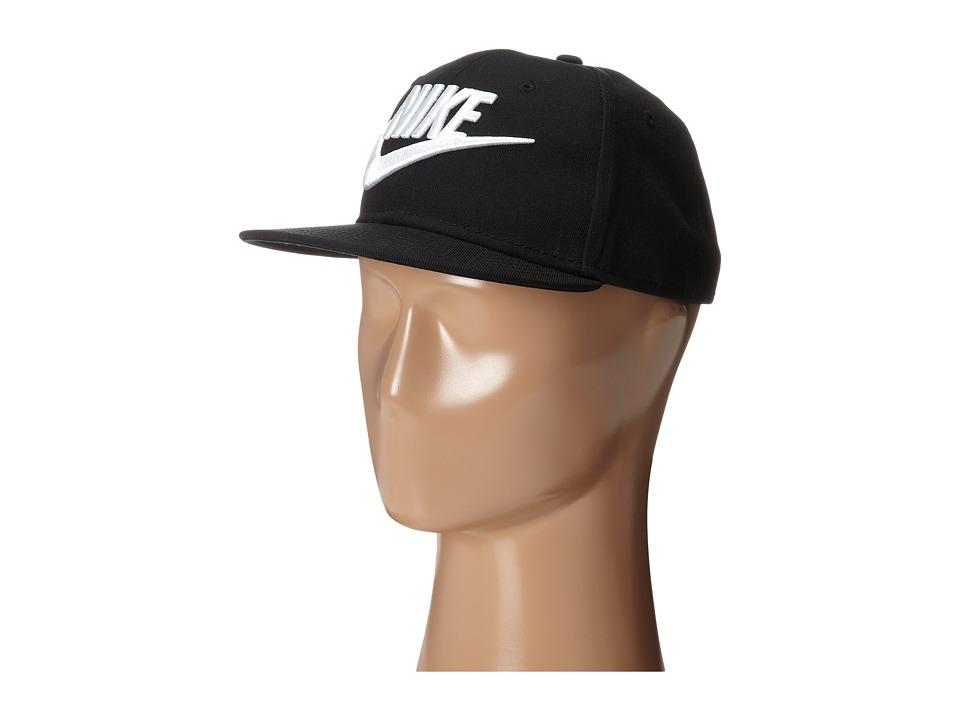 Nike Kids - Futura True Snapback Cap (Youth) (Black/Black/White Multi Snake) Caps