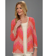 Jones New York - 3/4 Sleeve Open Front Cardigan