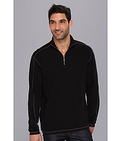 Agave Denim - Coal Flat Back Rib 1/4 Zip