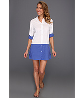 Tommy Bahama - Linen Boyfriend Shirt With Convertible Sleeves