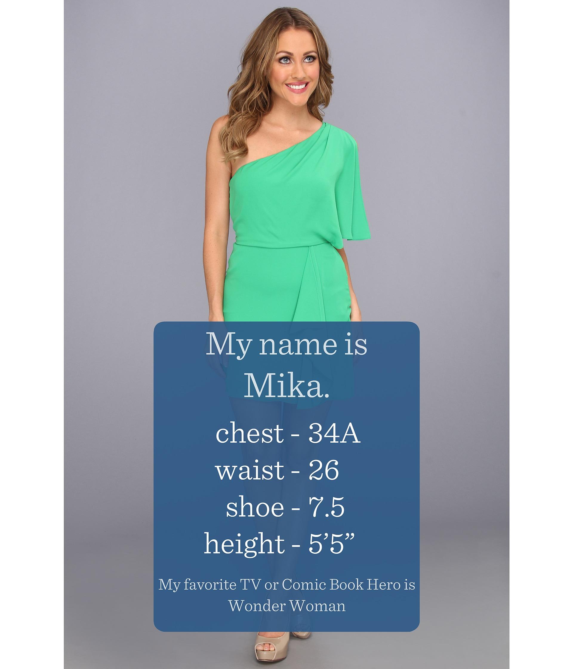 BCBGMAXAZRIA Mina One Shoulder Dress
