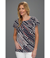 Anne Klein - Bias Stripe Print Blouse
