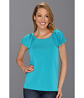 Anne Klein - Cap Flutter Sleeve w/Pleated Detail Top