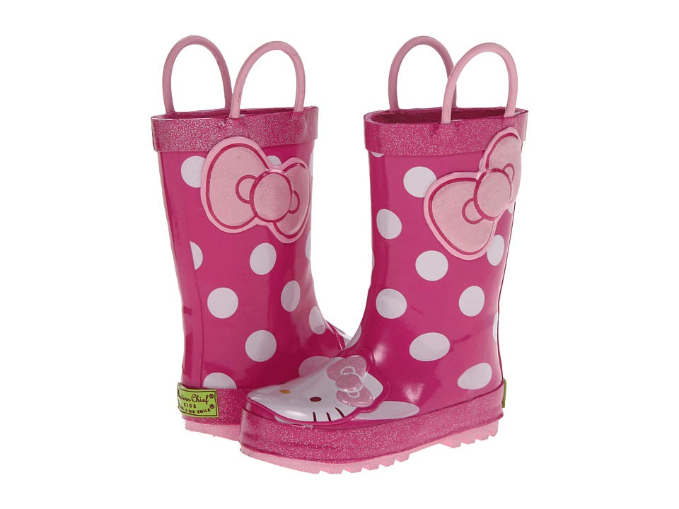 Western Chief Kids Hello Kitty Cutie Dot Rain Boot (Toddler/Little Kid/Big Kid) (Pink) Girls Shoes