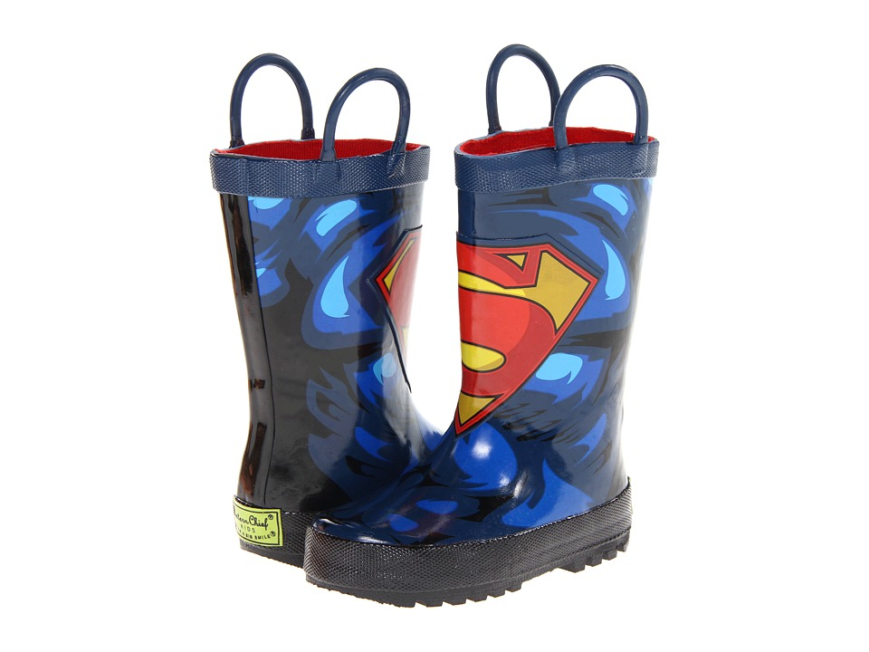 Western Chief Kids Supermantm Forever Rainboot (Toddler/Little Kid/Big Kid) (Blue) Boys Shoes