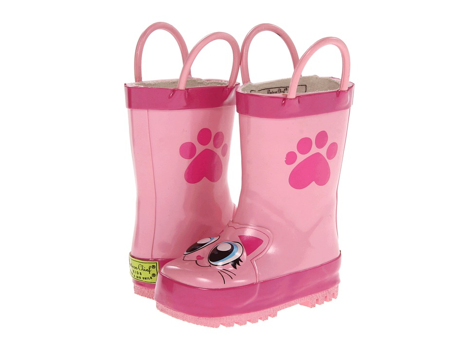 Western Chief Kids - Pink Kitty Rainboot (Toddler/Little Kid/Big Kid) (Pink) Girls Shoes