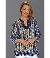 Jones New York - 3/4 Sleeve Embellished Tunic Top