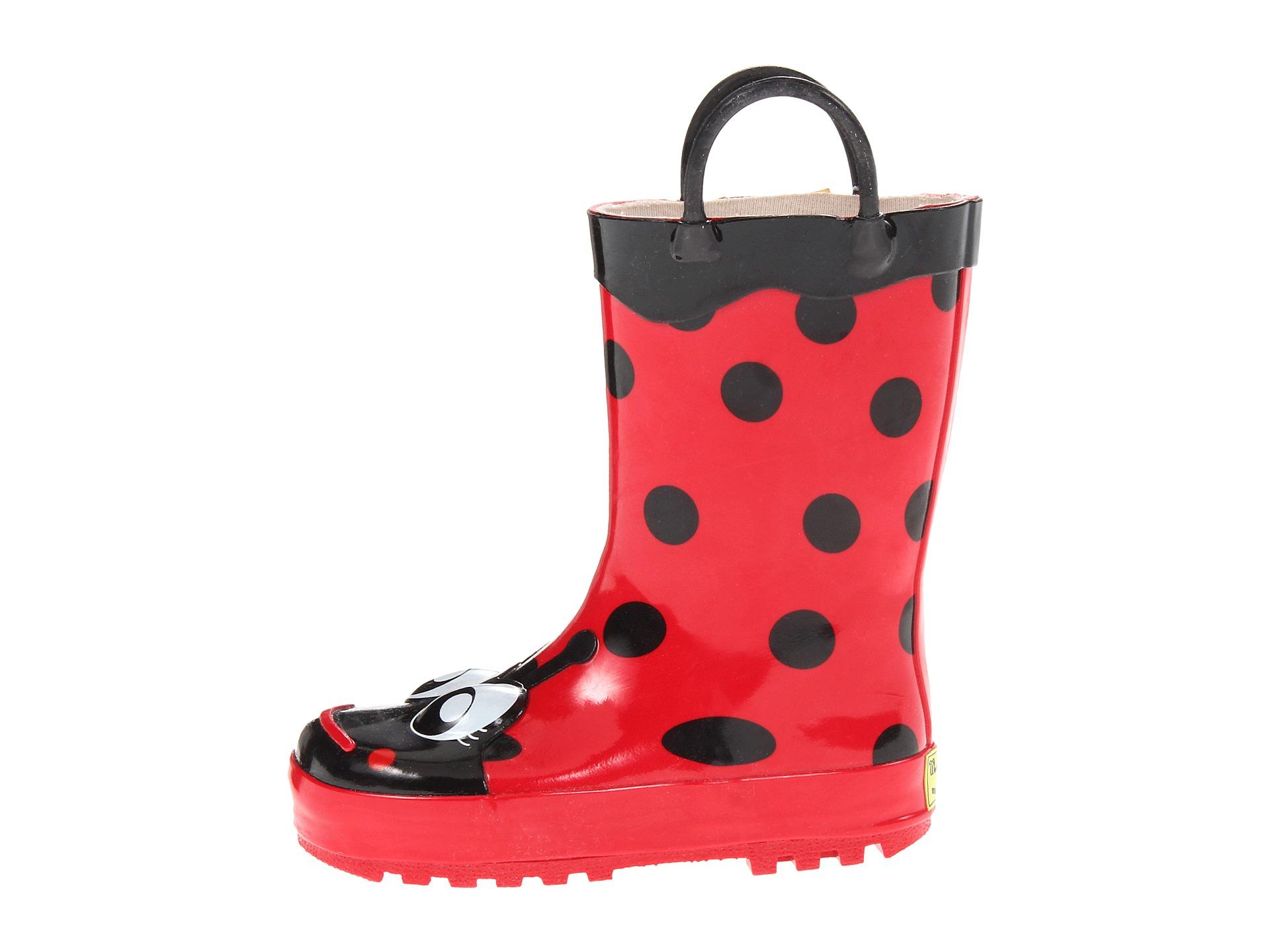 western chief kids ladybug rainboot toddler little kid big kid