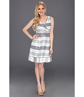 Jessica Simpson - Striped Full Skirt Sleeveless Dress