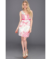 Jessica Simpson - Print Sleeveless Dress with Open Back Detail