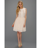 Jessica Simpson - Illusion Neckline Sleevless Dress w/ Contrast Trim