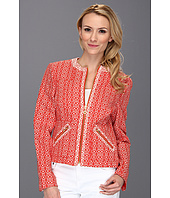 Jones New York - Long Sleeve Jewel Neck Jacket