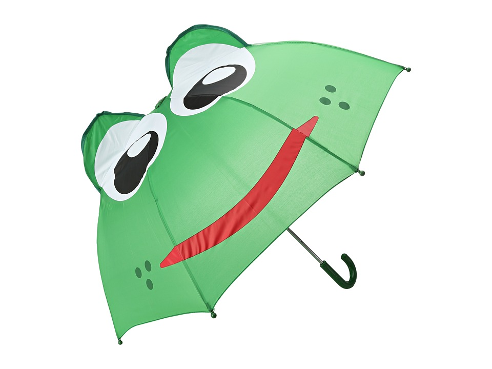 Western Chief Kids - Frog Umbrella (Green) Walking Umbrella