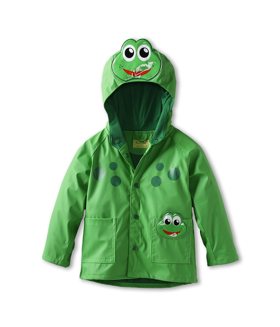 Western Chief Kids - Frog Raincoat (Toddler/Little Kids) (Green) Boys Coat