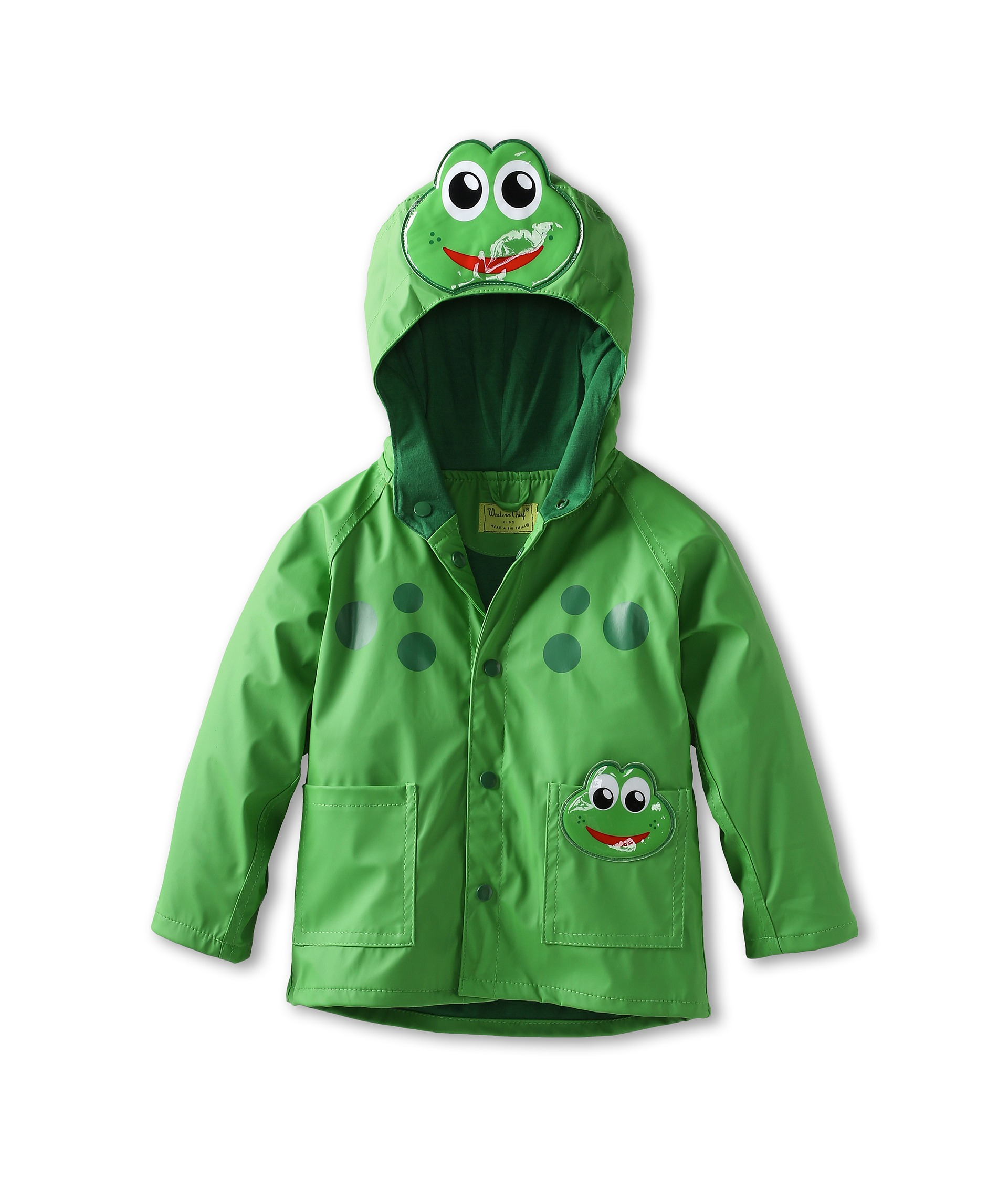 Western Chief Kids Frog Raincoat (Toddler/Little Kids) at Zappos.com