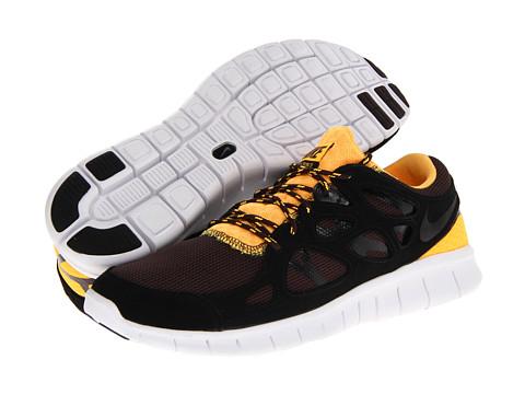 Nike Free Run 2, Black/Laser Orange/Madeira/Black