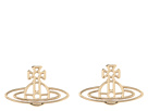 Vivienne Westwood Thin Lines Flat Orn Stud Earrings