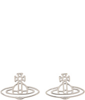 Vivienne Westwood - Thin Lines Flat Orn Stud Earrings