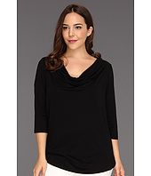 Karen Kane Plus - Plus Size 3/4 Sleeve Drape Top
