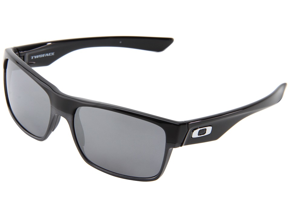 Oakley Two Face (Polished Black/Black Iridium) Sport Sung...