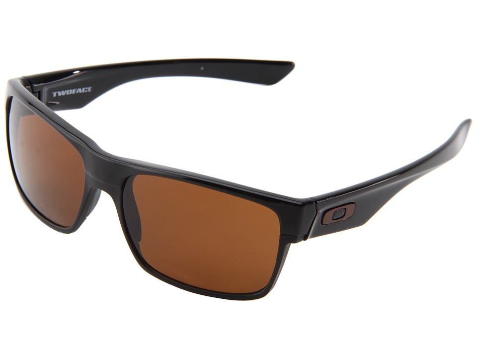 Oakley Two Face (Polished Black/Dark Bronze) Sport Sungla...