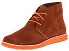 Cole Haan - Lunargrand Chukka (Sequoia Suede/Corporate Orange) - Footwear