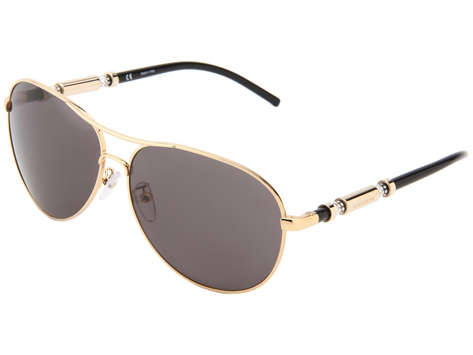 Givenchy SGV 454 Gold/Grey With Stones Fashion Sunglasses