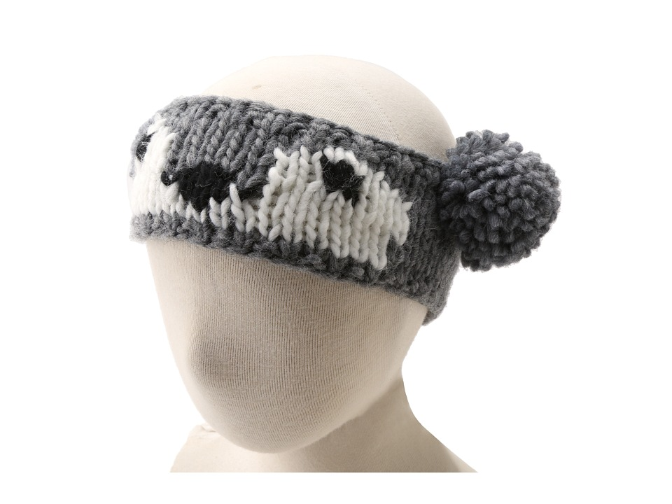 San Diego Hat Company Kids KNK3242 Koala Pom Headband Hat Little Kids Grey Traditional Hats