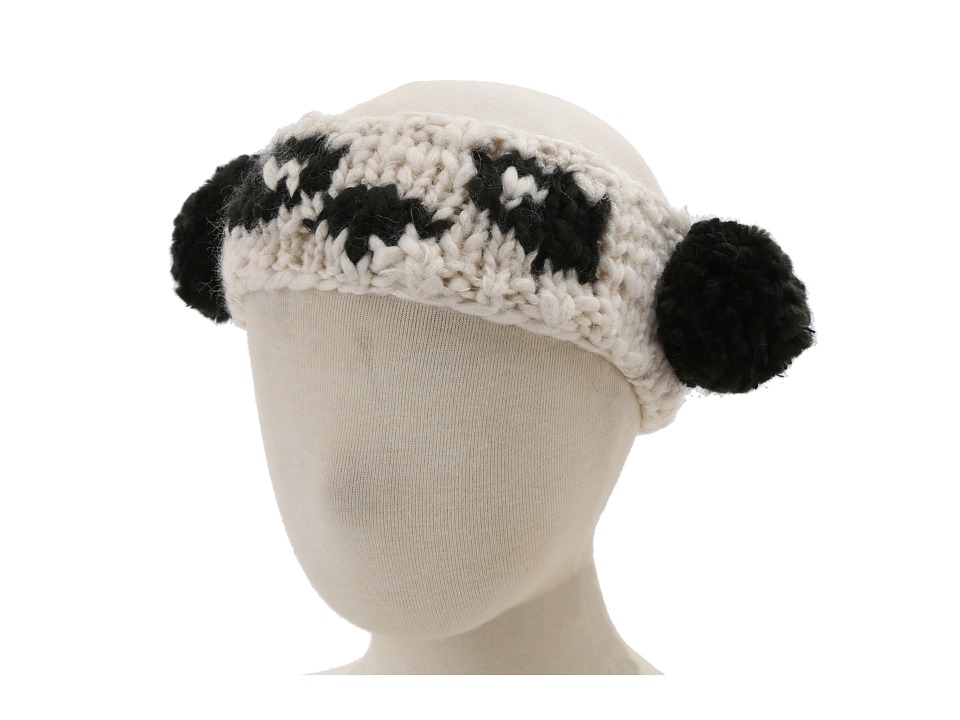 San Diego Hat Company Kids KNK3244 Panda Headband Hat Little Kids Ivory W/Black Traditional Hats