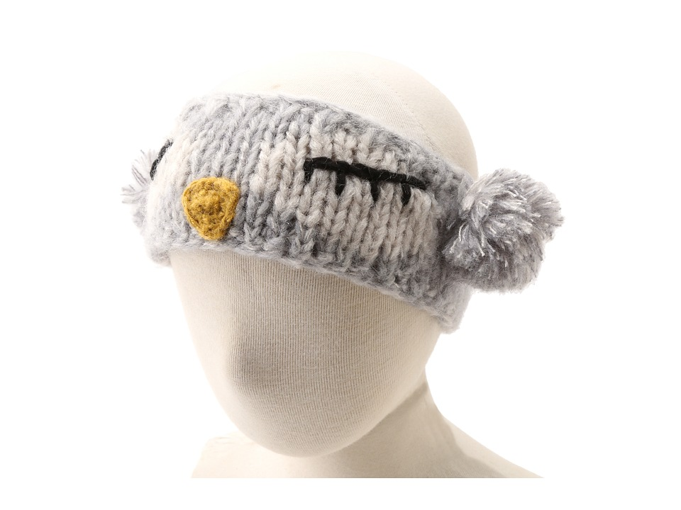 San Diego Hat Company Kids KNK3246 Sleeping Owl Pom Headband Hat Little Kids Grey Traditional Hats