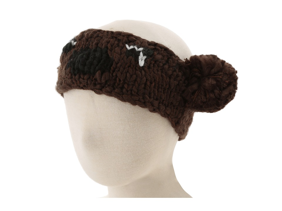 San Diego Hat Company Kids KNK3238 Bear Pom Headband Little Kids Brown Traditional Hats