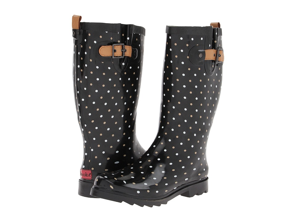 Chooka - Classic Dot Rain Boot (Black) Women