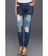 Free People - Crochet Patched Skinny in Haynes Wash