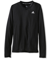 adidas Kids - CLIMALITE® Long-Sleeve V-Neck Tee (Little Kids/Big Kids)