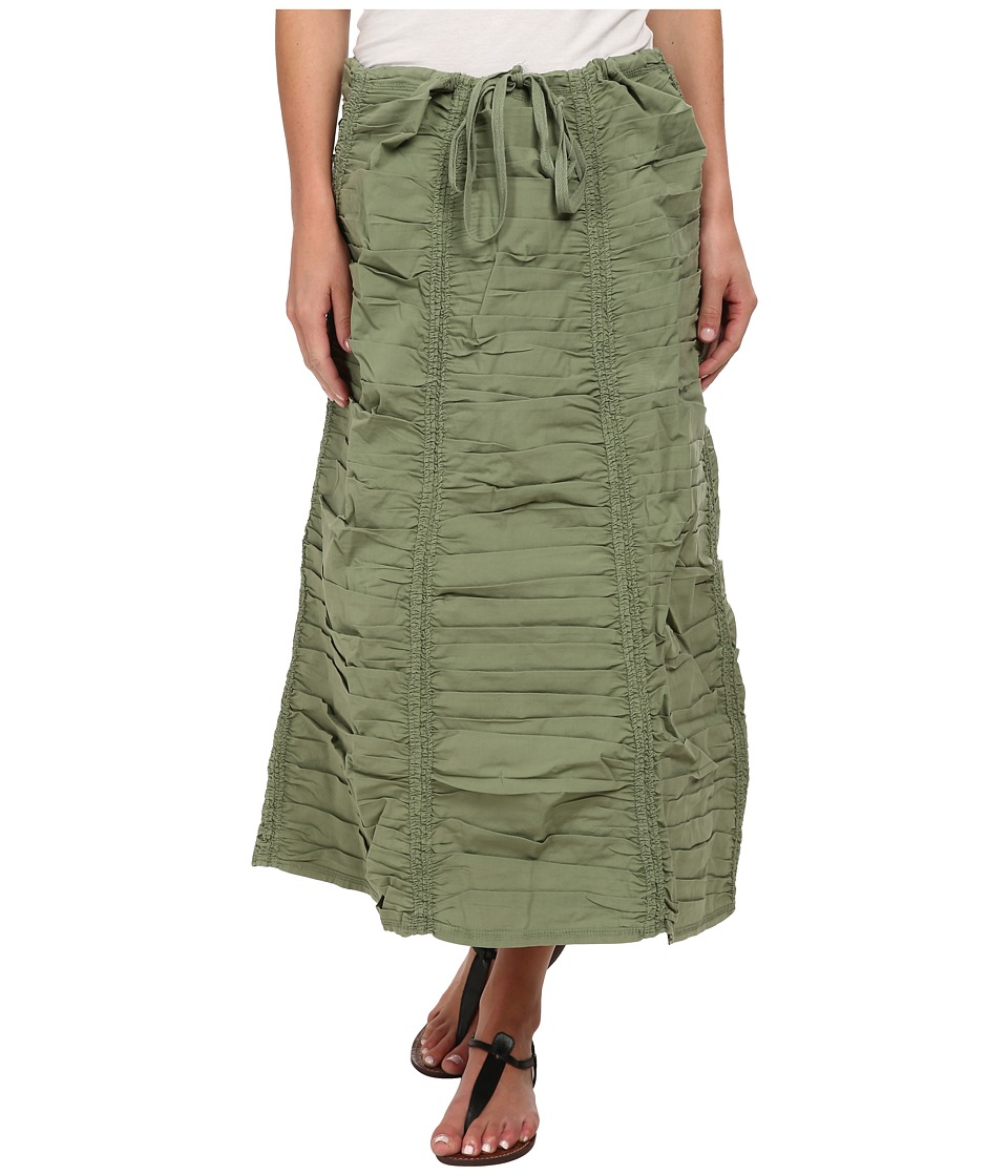 XCVI Stretch Poplin Double Shirred Panel Skirt (Meadow) Women
