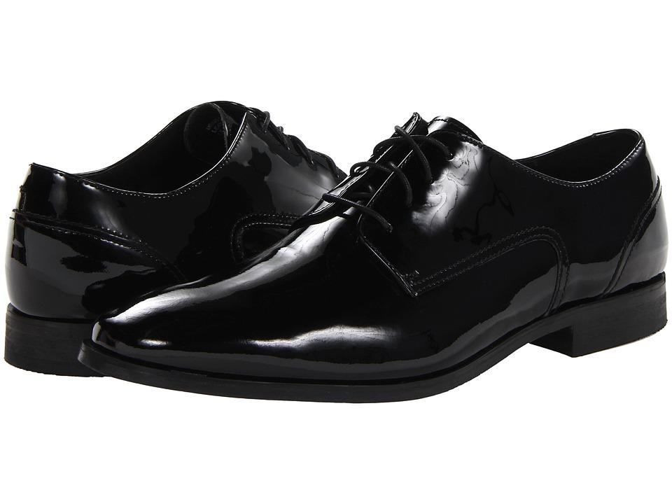Florsheim - Jet Plain Toe Oxford (Black Patent) Men