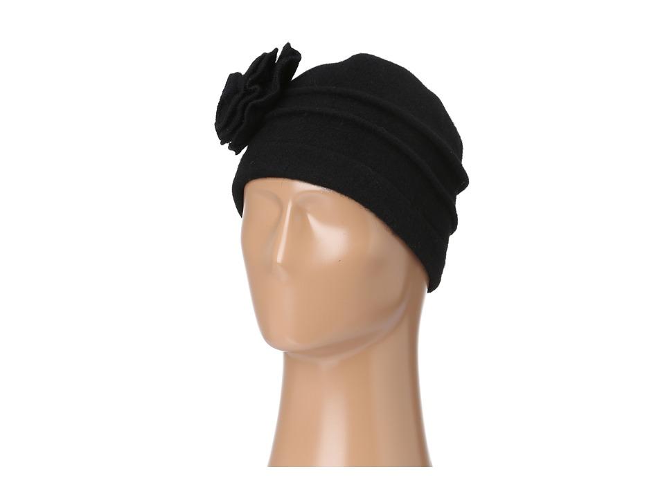 San Diego Hat Company - WFH7898 Wool Flower Cap Black Caps $32.00 AT vintagedancer.com