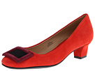 Red suede shoes. Isaac Mizrahi New York - Perry (Red Multi Suede) - Footwear