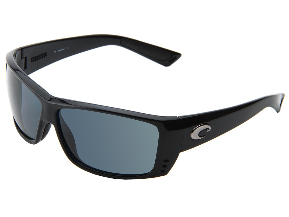 Costa - Cat Cay 580 Plastic (Black/Gray 580 Plastic Lens) Sport Sunglasses