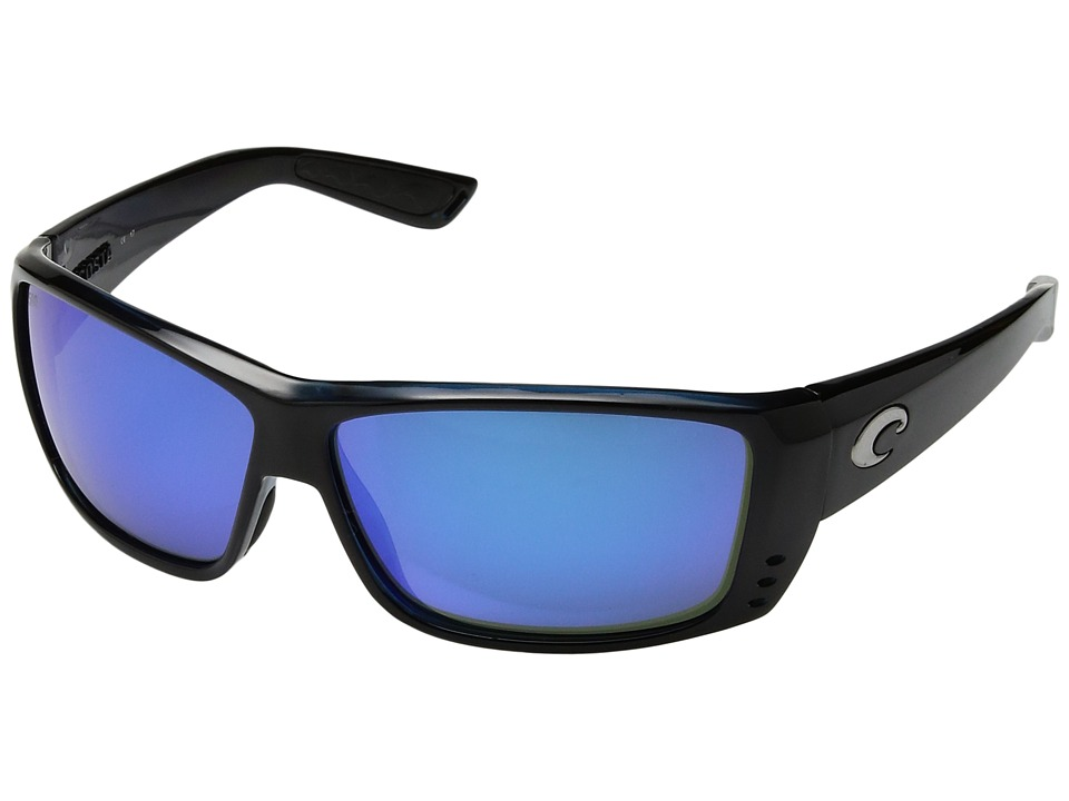 Costa - Cat Cay 580 Mirror Glass (Black/Blue Mirror 580 Glass Lens) Sport Sunglasses