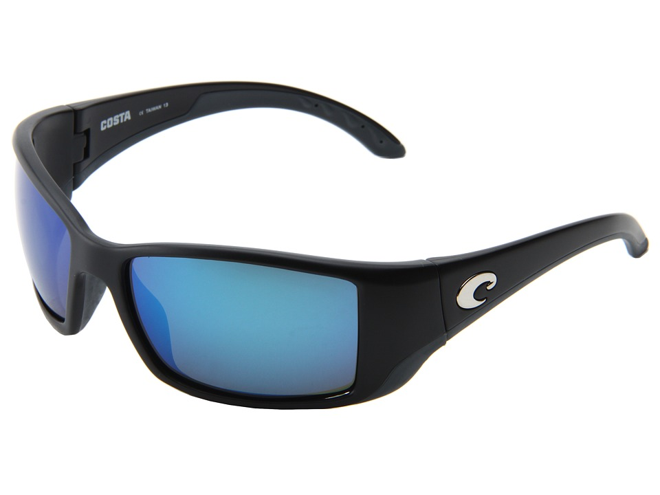 Costa - Blackfin 580 Mirror Glass (Black/Blue Mirror 580 Glass Lens) Sport Sunglasses