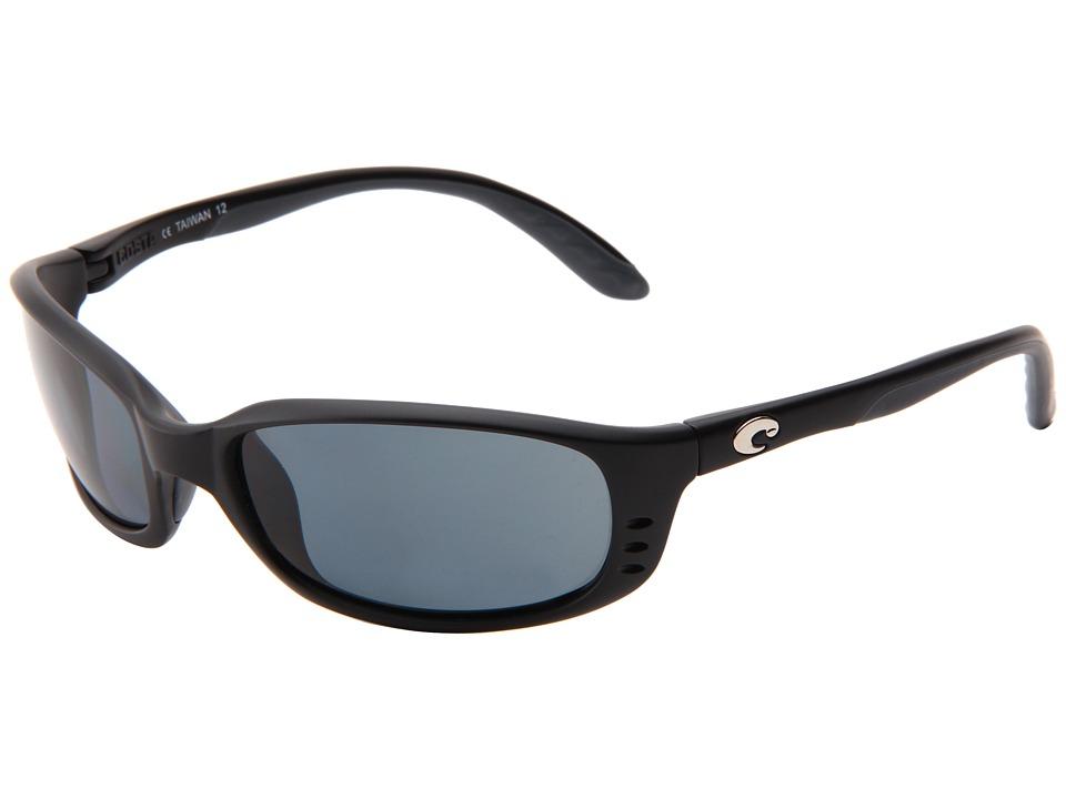 Costa - Brine 580 Plastic Lens (Black/Gray 580 Plastic Lens) Sport Sunglasses