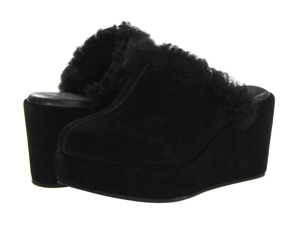Cordani Darma Black Suede/Canvas 1 Womens Clog Shoes