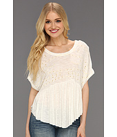 Free People - Embroidered Boxy Top